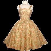 Vintage 1950s Dress//50 Dress//Ann Fogarty//Embridered//Full Circle Dress