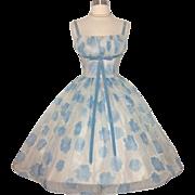 Vintage 1950s Dress//50 Dress// Lorrie Deb// cocktail//New Look//Mod//Party Dress//Wedding Dress//Sundress