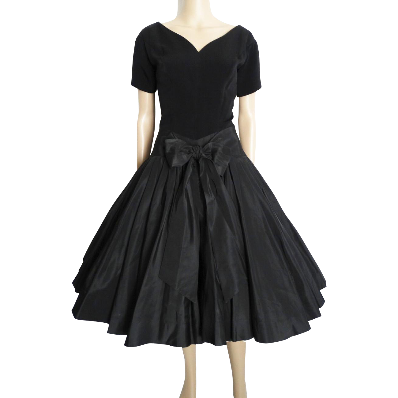 Vintage Wedding Dresses Nyc: Vintage 1950s Dress//50s Black Dress//Rockabilly//Party