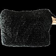 Vintage 1940s Muff//Curly Lamb Muff//Fur Muff//Stunning//