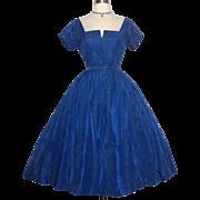 Vintage 1950s Dress//Designer//David Hunt//Party Dress//50s