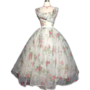 Vintage 1950s Dress // Emma Domb // Roses //New Look //50s Party Dress//Femme Fatale//Rockabilly