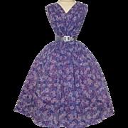 Vintage 1950s Dress // Gay Gibson //50s Dress //Femme Fatale//Rockabilly//New Look//Lavender
