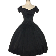 Vintage 1950s Dress // Suzy Perette // 50s Dress //New Look //Femme Fatale//Rockabilly//Mad Man//Black//New Look