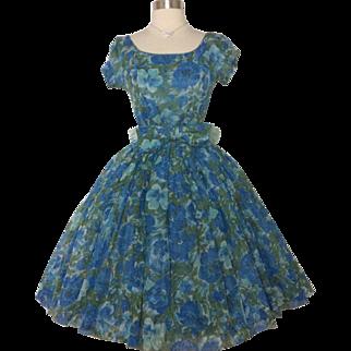 Vintage 1950s Dress//GiGi Young//New York//50s Dress//Floral//New Look//Mod//Rockabilly//Mad Man