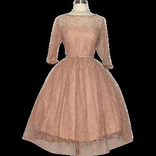 Vintage 1950s Dress//50s Dress//Lace//New Look//Mod//Rockabilly//Cocktail Dress//Party Dress