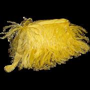 Vintage 1930s Purse .  30s vintage purse . Clutch .  Marabou Feather  .  Art Nouveau . Art Deco . Yellow