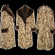 Vintage 1960s Coat . Mink Coat . Full Length Mink Coat . Real Fur .  60s Mink Coat