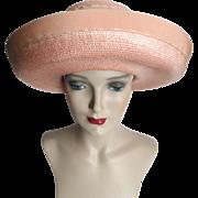 Vintage 1950s Hat//Lilly Dache//Brim//50s Hat//Garden Party// Mad Men// Rockabilly//Femme Fatale//Designer//Dachettes