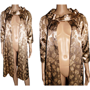 Vintage 1950s Coat//Evening Coat//Gold//Swing Coat//50s Coat//New Look//Mod//Rockabilly