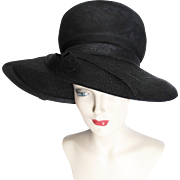 1960's Christian Dior Hat//Saxs Fifth Avenue//New Look//Mod//Femme Fatale//Mad Man// Couture