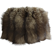 Vintage Fox Fur Muff//1940s//Hand Warmer//Old Hollywood//Glamorous//fox fur muff//40s Fox Fur Muff