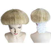 Vintage Mink Hat//Fur Hat//Kronenfeld Furs//1960s Fur Hat