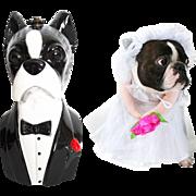 RESERVED~~Timmy Woods Handbag//Boston Terrier //Tags//Dog//Shoulder Bag//Clutch//Dog Purse//Timmy Woods of Beverly Hills