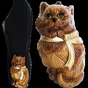 Timmy Woods Handbag//Beverly Hills//Cat//Shoulder Bag//Kitty Cat//Cat Purse//Clutch//Cat Shoulder Bag//Designer
