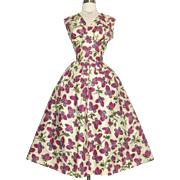 Vintage 1950s Dress//50s Party Dress//Cocktail Dress//Mod//New Look//Rockabilly//Butterflies//Butterfly