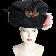 1900s Edwardian Hat//Authentic Antique Hat / 1900s Hat / Victorian / Edwardian / Wire Frame / Titanic Era /