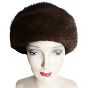 Vintage Mink Hat//Dark Mink Hat//1960s//60s Mink Hat//Mr. D'//Gorgeous Hat
