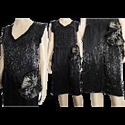 Vintage 1920s Dress // Hand Beaded //Flapper Dress//Roaring 20s Dress//Art Nouveau//Art Deco//20s Dress