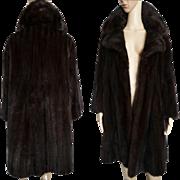 Vintage Mink Coat//Full Length Mink Coat//Dark Mahogany// Designer Mink Coat//Flier Furs//