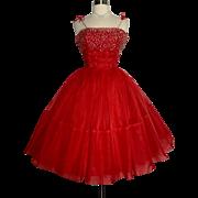 Vintage 1950s Dress//50s Dress//Full Circle Skirt//Evening Dress//Mod//New Look//Rockabilly//Wedding