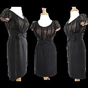 Vintage 1950s Dress//50s Dress//Party Dress//Black//Montego Original//Designer//New Look//Mod