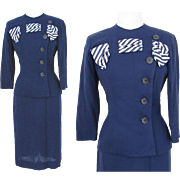Vintage 1950s Suit//50s Suit//Paul Sachs Original//Designer//Tailored//New Look//Rockabilly//Mod