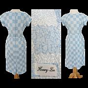 Vintage 1950s Dress//50s Dress//Embroidered//Henry Lee//Designer