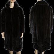 Vintage Mink Coat//Full Length Mink Coat//Dark Mahogany// Designer Mink Coat//