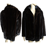 Vintage Mink Coat//Stroller Length Mink Coat//Dark Mahogany// Designer Mink Coat//Fur Salon//Dark Mink Coat