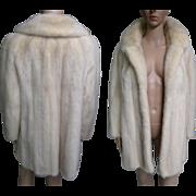 Vintage Mink Coat//Stroller Length//White Mink// Designer Mink Coat//Curtis Stewart//San Francisco