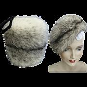 Vintage Mink Hat//Mink Muff//Cross Mink//1960s Hat//Mr. Marc New York//Marshall Field Company//Designer Mink Hat//Couture