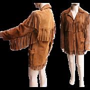 Vintage 1960s Fringe Jacket//60s Jacket//Fringe//Leather//Hippy Jacket//