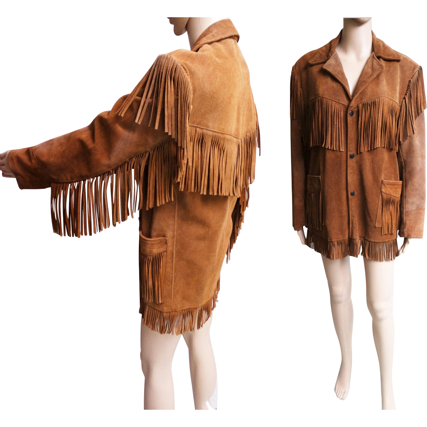 Vintage 1960s Fringe Jacket//60s Jacket//Fringe//Leather//Hippy Jacket//