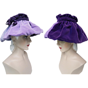 Vintage 1950s Hat //50s Hat//Lavender//Designer// Femme Fatale//Mad Men//Rockabilly//Purple