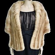 Vintage Mink Stole//60s Mink Stole//EMBA Natural Brown Mink//Autumn Haze//Mod//High Fashion//Designer//New Look