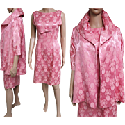 Vintage 1950s Dress//50s Dress//Mod//New Look//Rockabilly//Party Dress//Pink//Hourglass
