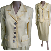 Vintage Christian Dior Suit//Designer//1980s//1980s Christian Dior Suit//Designer Suit