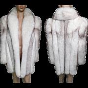 Fox Fur Coat//Stroller Length//Saga Fox// Designer Mink Coat//Vintage Fur Coat//