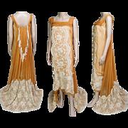 1920s Dress // Vintage 1920s Dress // Roaring 20s Dress //Flapper Dress//20s Evening Gown//Wedding Dress//