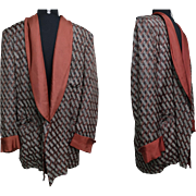 Vintage Smoking Jacket//1950s Smoking Jacket//Pure Silk//Neiman Marcus//Liberty of London
