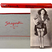 Vintage Stockings//Nylons//Hosiery//Original Box//Schiaparelli// Designer//Bombshell//3 Pair//Size 9 & 1/2//Stock Control Card//Pussy Willow