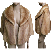 Vintage Mink Stole//60s Mink Stole//Mink Cape//Autumn Haze//Mod//High Fashion//Designer//New Look