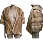 Vintage Mink Stole//60s Mink Stole//Autumn Haze//Mod//High Fashion//Designer//New Look//H. Cusson Furrier