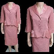 Vintage 1940s Suit//Designer//Larger Size//40s Suit//Original//Martha Manning//Tailored
