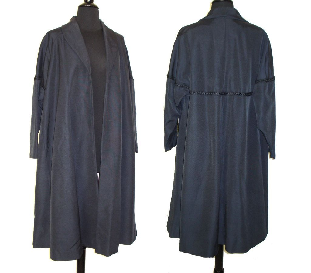 Vintage 1950s coat 50s swing navy blue faille for 41 river terrace new york ny 10282