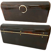 Vintage Lucite Purse//Clutch//Marbleized// New Look// Retro// Rockabilly//
