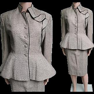 Vintage 1940s Lilli Ann Suit//Original of San Francisco//Designer//40s suit//Peplum//40s Lilli Ann