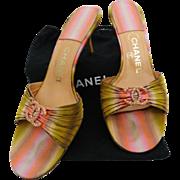 Vintage Chanel Heels//1980s//Original Dust Cover//80s heels//Designer//Authenic