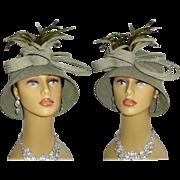Vintage 1960s Hat. Clothe Hat . Fine Millinery